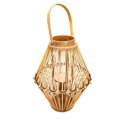 Luminária de Fibras Naturais - 56x31,5cm