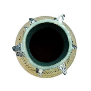 Vaso Decorativo em Cerâmica Estilo Aborigene - 60x28cm