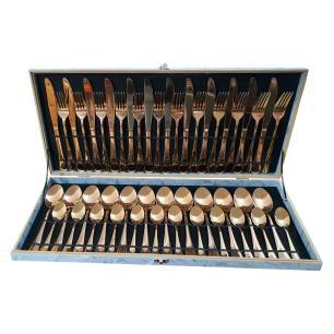 Faqueiro de Inox cor Bronze - 48 Peças