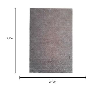 Tapete Belga Geométrico Cinza - 240x330cm