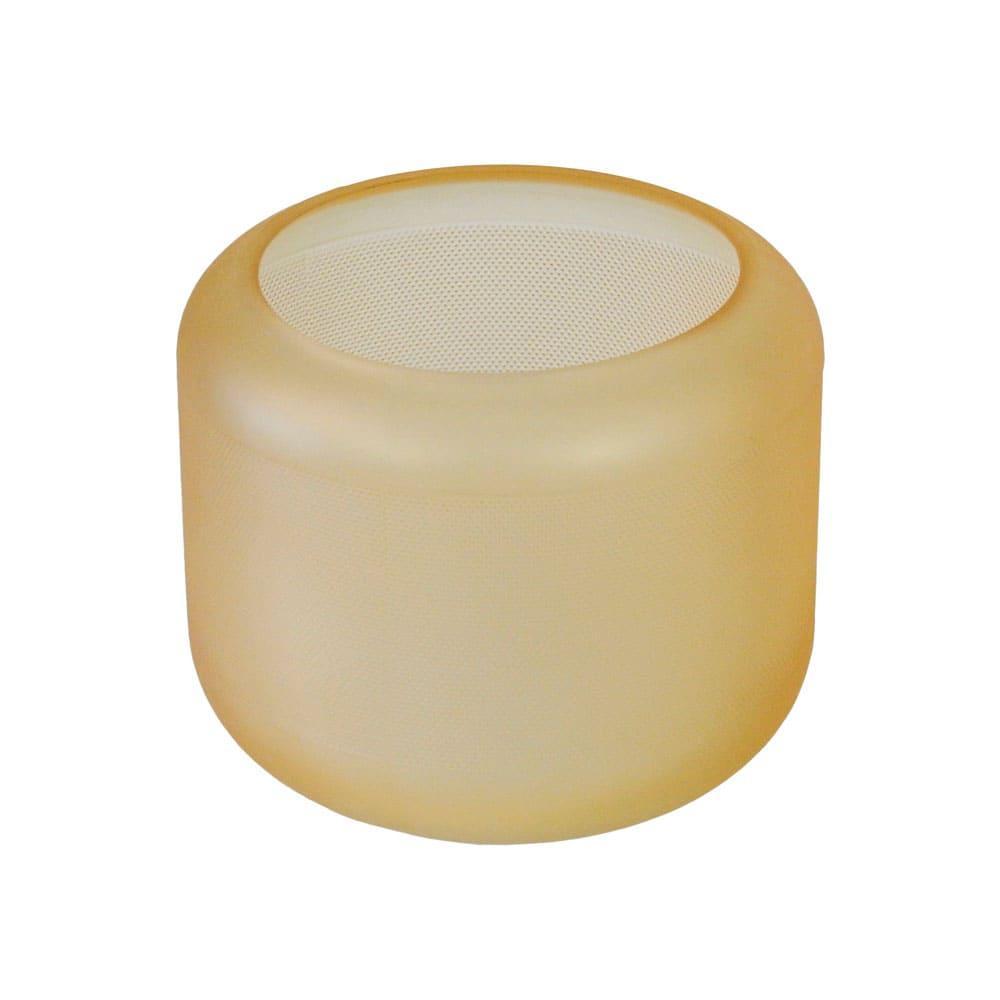 Vaso Decorativo em Vidro na Cor Âmbar - 15cm