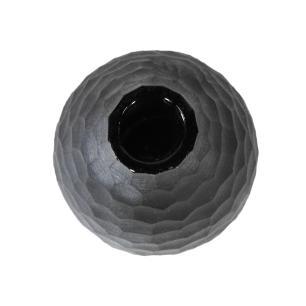 Vaso Decorativo em Vidro na cor Preta - 23x11x11cm