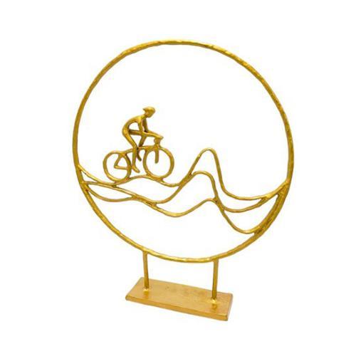 Escultura Decorativa Bicicleta - 36x30x6cm