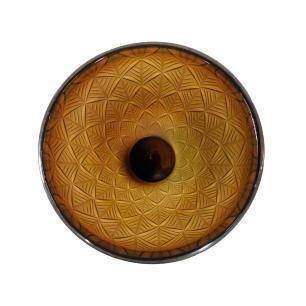 Vaso Decorativo em Vidro na Cor Marrom - 28x19cm