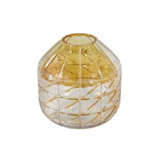 Vaso Decorativo em Vidro Âmbar - 18cm