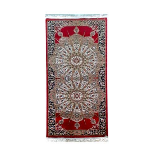 Passadeira Persa Vermelho com Detalhes Bege - 80x200cm