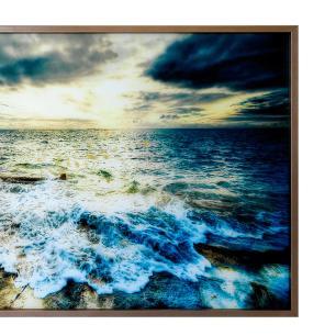 Quadro Decorativo em Vidro com Paisagem de Praia - 80x120cm