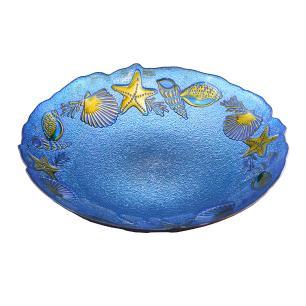 Centro de Mesa Decorativo Azul com Ouro - 40cm