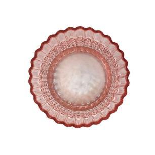 Vaso Decorativo em Vidro na Cor Rosa - 20cm