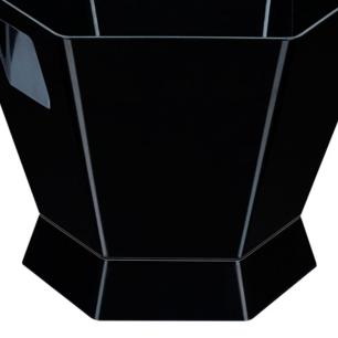 Champanheira Sextavada em Acrílico - 39x34x28cm