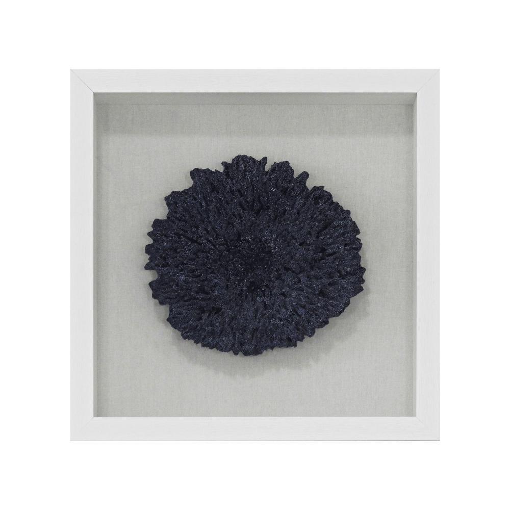 Quadro Decorativo Coral Azul - 40x40cm
