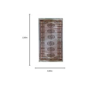 Passadeira Persa Bege - 80x250cm
