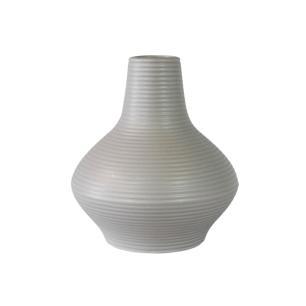Vaso Decorativo em Cerâmica na Cor Cinza Claro - 19cm