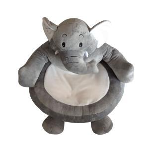 Puff Estofado em Formato de Elefante - 55x50x50cm