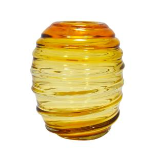 Vaso Decorativo em Vidro na Cor Âmbar - 20x25x20cm