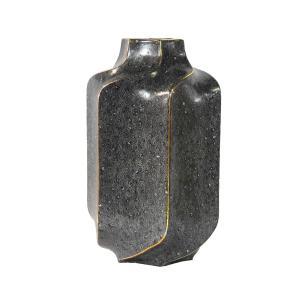 Vaso Decorativo em Porcelana na Cor Cinza - 30x19cm