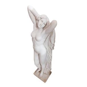 Estátua em Mármore Branco de Mulher - 150x47cm
