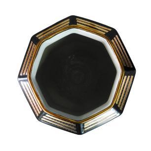 Vaso Decorativo em Porcelana na Cor Preta - 29x25cm