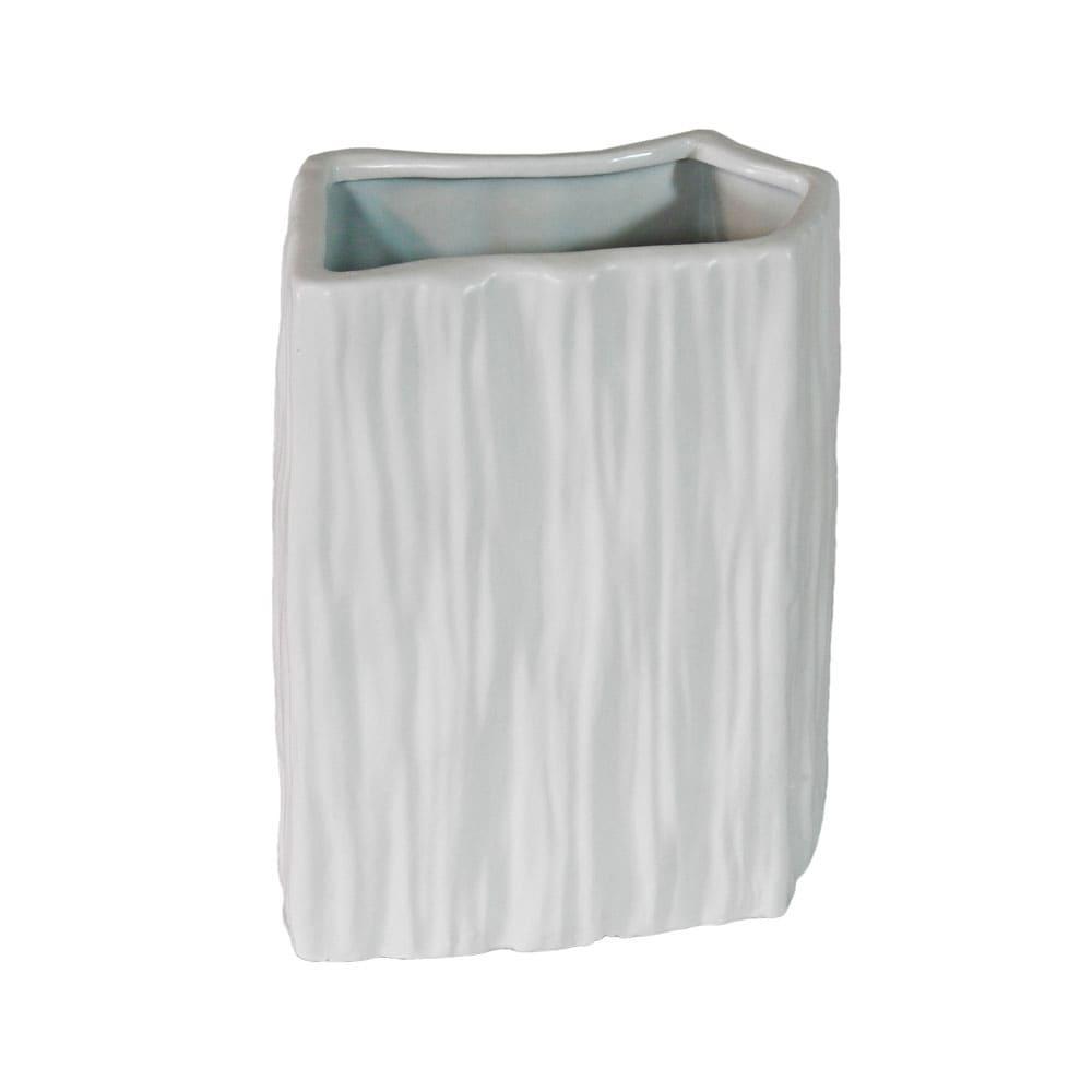 Vaso Decorativo em Porcelana na Cor Branca - 26x19x16cm