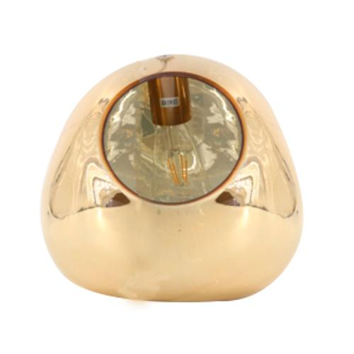 Abajur em Metal Dourado com Cúpula - 30x30cm