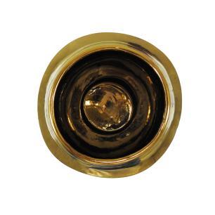 Vaso Decorativo em Cerâmica Laranja - 30x20cm