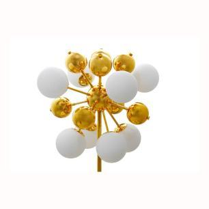 Luminária em Metal Dourado com Foco de Luz Múltiplo - 30x26cm