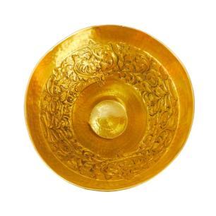 Vaso Dourado em Metal - 33x40cm