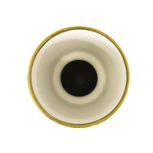 Vaso Decorativo em Porcelana Marrom - 36x18x18cm