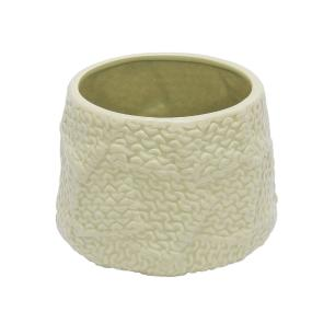 Vaso Decorativo Bege em Cerâmica- 13x16cm