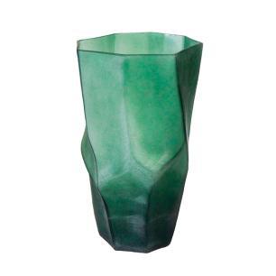 Vaso Decorativo em Vidro na Cor Verde - 43x25cm