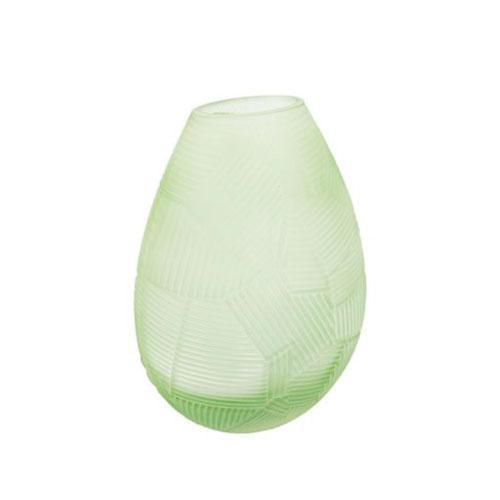 Vaso em Vidro na Cor Verde - 22x15x10cm