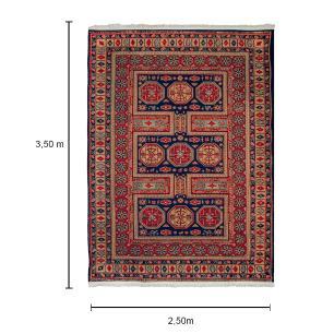 Tapete Iraniano Aubusson na Cor Azul - 350x250cm