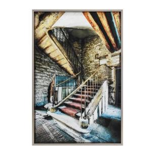 Quadro com Foto de Escada Moldura em Metal - 120x80cm