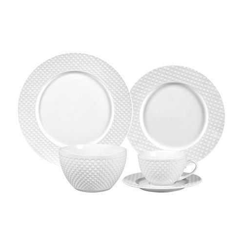 Aparelho de Jantar Kiev em Porcelana Branca - 30 Peças
