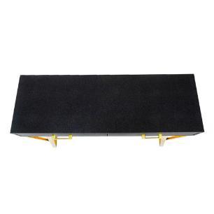 Aparador Aço Inox Preto com Dourado - 79x110x40cm