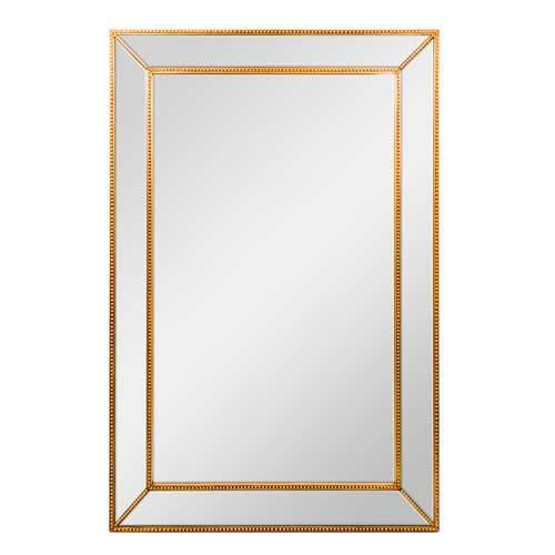 Espelho Decorativo Borda Dourada - 140x92cm