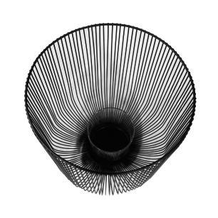 Castiçal Produzido em Metal Preto - 24X21cm