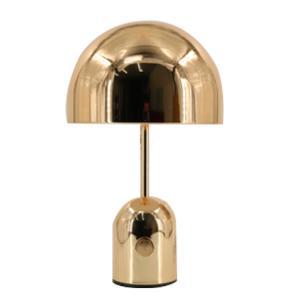 Abajur em Metal Dourado com Cúpula - 40x30cm