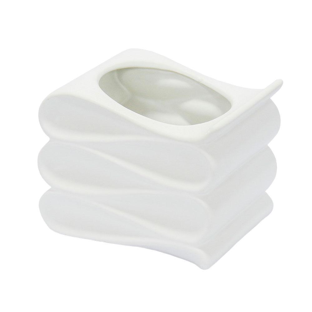 Vaso Decorativo Branco - 13x16x13cm