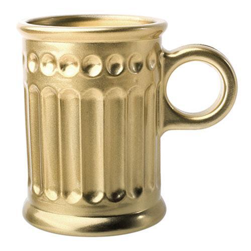 Jogo de 6 Xícaras para Café Coffee Time em Cristal cor Dourada - 85ml