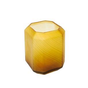Vaso Decorativo em Vidro Âmbar - 20x15x15cm