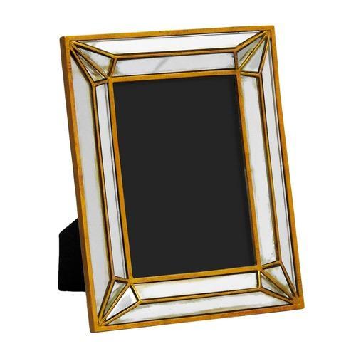 Porta Retrato Revestido em Resina Dourada - 25,5x20cm
