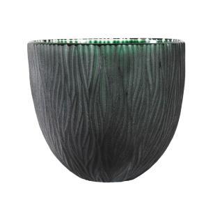 Vaso Decorativo em Vidro na Cor Verde - 20x22cm