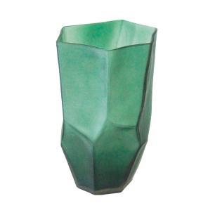Vaso Decorativo em Vidro na Cor Verde - 33x17cm