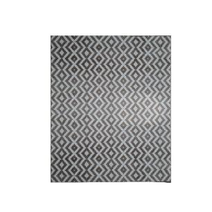 Tapete Belga Ambiance Marrom com Branco - 200x300cm