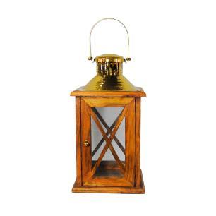 Lanterna em Madeira e Metal - 60x26cm
