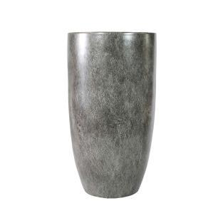 Vaso Decorativo em Porcelana na Cor Cinza - 45x23cm