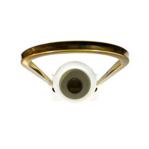Vaso Decorativo Produzido em Metal e Mármore - 56x20x12cm