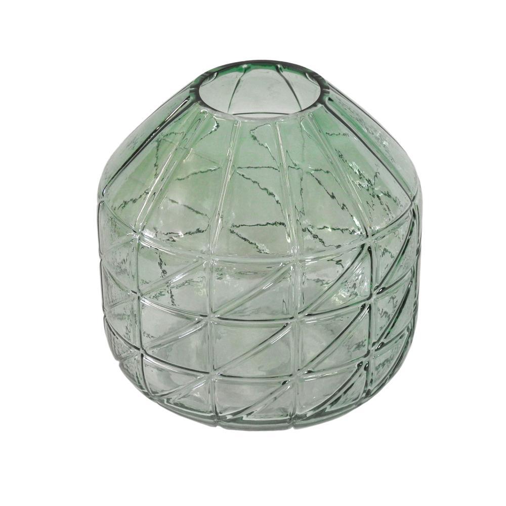 Vaso Decorativo em Vidro Verde - 18cm