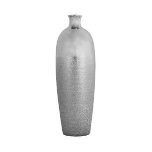 Vaso Decorativo em Cerâmica Prata - 54x18x18cm